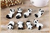 8 Pcs Set Cute Panda Ceramic Ware Chopsticks Stand Rest Rack