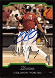 Autograph Warehouse 637687 Delmon Young Autographed Baseball Card - Tampa Bay Rays, Team USA 2004 Bowman Rookie - No.BDP164. rookie card picture