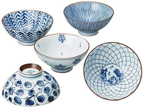 Saikai Touki Saikai Pottery Traiditional Japanese Rice Bowls (5 Bowls Set) 31623 from Japan (One Pack)