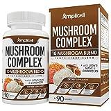 Mushroom Complex (90 caps) - Blend of 10 Organic Mushrooms - Immune Booster Wellness Formula - Chaga Mushroom, Chaga, Cordyceps, Turkey Tail, Shiitake, Lion's Mane, Maitake & Reishi Mushroom Capsules