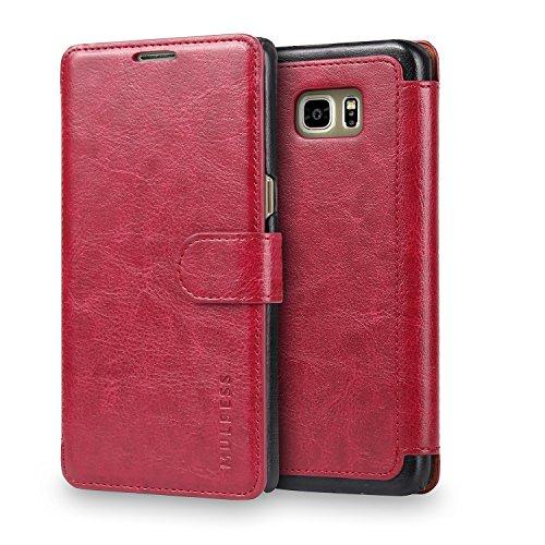 Mulbess Cover per Samsung Galaxy S3 Mini, Custodia Pelle con Magnetica per Samsung Galaxy S3 Mini [Layered Case], Vino Rosso
