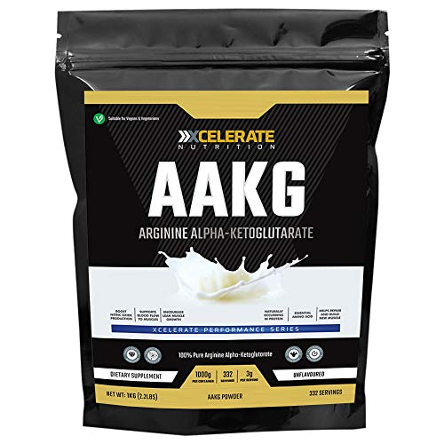 XCelerate Nutrition 100% Pure Arginine Alpha Ketoglutarate (AAKG) Powder (1kg / 1000g)