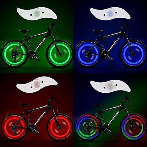 OZUAR 8 Stück LED Radlichter Speichenlichter mit Batterien inklusive! Erhalten Sie 100% Heller und aus Allen Winkeln sichtbar für ultimative Sicherheit und Stil