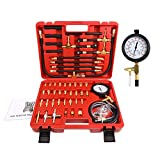 BETOOLL Pro Fuel Injection Pressure Tester Kit Gauge 0-140 PSI with 9.49,7.89,6.30 Fuel Line Fittings