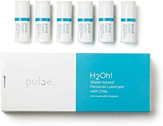 Natural Feminine Moisturizing Water Based Personal Lubricant for Vaginal Dryness H2Oh! by Pulse- FDA Cleared- 6 Pods 6.7 ml Each (Compatible with Pulse Warming Dispenser)