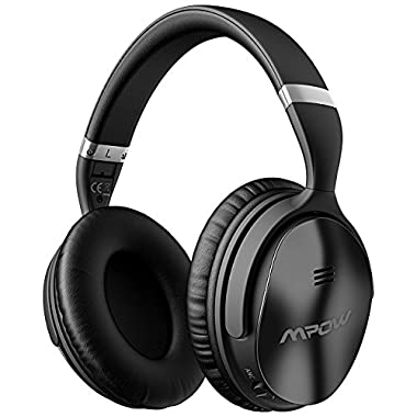 Mpow [Update] H5 Active Noise Cancelling Bluetooth Headphones, Hifi Stereo Headset Over Ear w/Mic, Foldable, Soft Memory-Protein Earpads, Wired & Wireless Headphones for PC/Cell Phones/TV