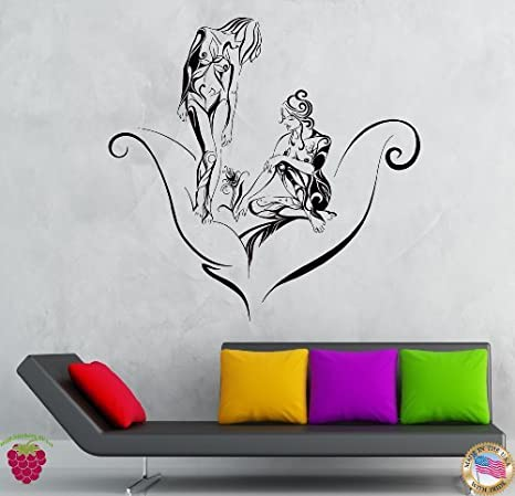 Naked girls indoor Amazon Com Wall Stickers Vinyl Decal Naked Girls Flower Teens Rose Coolest Decor Ever Z1935 Tools Home Improvement