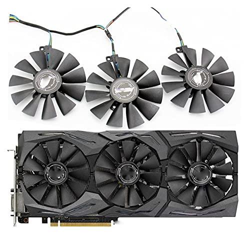 SHENG Shengyuan FDC10U12S9-C FDC10H12S9-C para ASUS GTX 980 Ti R9 390X 390 GTX 1060 1070 1080 Ti RX 480 RX480 Ventilador de refrigeración para tarjetas gráficas (color de la hoja: 3 piezas)
