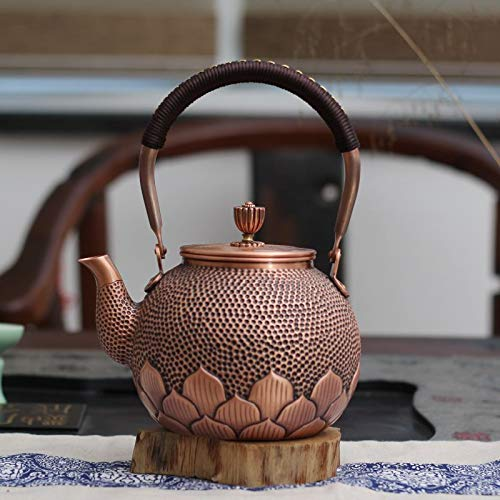Handcrafted Master Knock Flowers, Heart and xiangyun, Purple and Copper teapot Brewing teapot Retro kung fu Tea Ceremony Tea Ceremony Tea Maker (3)