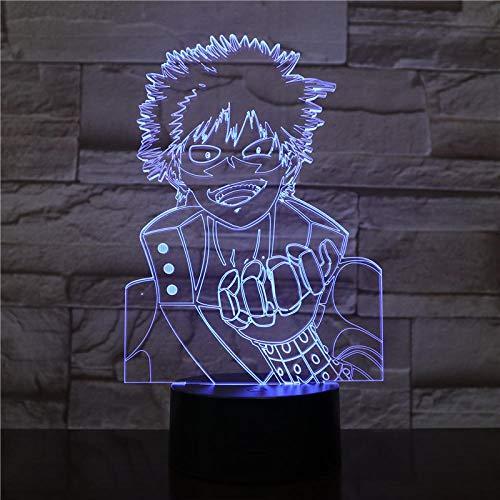 HXFGL Luz de noche 3D Personajes de anime 7 colores luz nocturna lámpara de mesa LED decoración de sala de estar regalo exquisito para niños