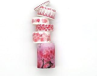 7 rouleaux de ruban adhésif Washi vintage pour scrapbooking, travaux manuels, bullet journal, emballage cadeau, accessoire...