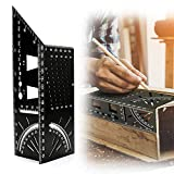 Aceshop 3D Mitre Angle <span class='highlight'>Measuring</span> Ruler Multifunctional 45/90 Degree Square Gauge Ruler Aluminum Alloy T-Shaped Dovetail Joint Woodworking <span class='highlight'>Measuring</span> Tool for Carpenter Builders Handymen Craftsmen