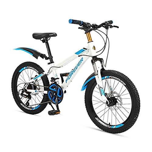ZXQZ Bicicleta de 24 Velocidades, Bicicletas Confort con Horquilla Delantera Amortiguadora y Cojín de Asiento Ajustable, para Niños, Estudiantes y Adolescentes, 20/22 Pulgadas