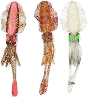 LIOOBO Señuelos de Pesca Calamar Cebos Suave Pulpo Señuelos de Pesca Cebo Artificial Aparejos de Pesca 3pcs