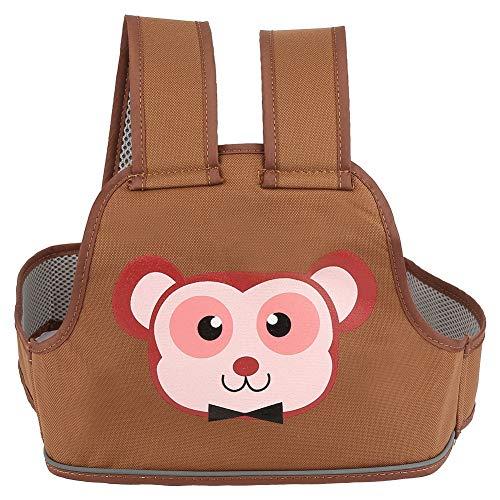 Arnés portador de mochila para bebé, cinturón de seguridad para niños en bicicleta para motocicleta, protege al bebé de lesiones, con red interior transpirable,(monkey)