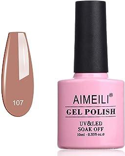 AIMEILI Soak Off UV LED Gel Nail Polish - stella anethum (107) 10ml