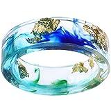 Jude Jewelers - Anillo de boda de resina de plástico transparente de 8 mm estilo océano para cóctel