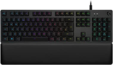 Logitech G513 RGB Backlit Mechanical Gaming Keyboard with GX Blue Clicky Key Switches (Carbon) (Renewed)
