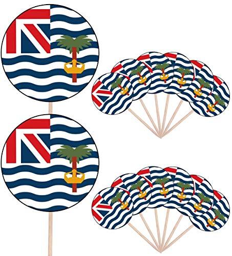 Indische Oceaan Vlag Partij Voedsel Cake Cupcakes Picks Sticks Vlaggen Opstaan Decoraties Toppers (Pack van 14)