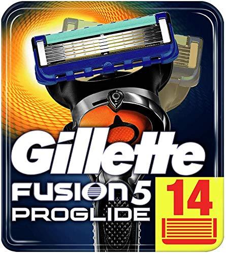 Gillette Fusion 5 ProGlide Rasierklingen mit Trimmerklinge für Präzision und Gleitbeschichtung, 14 Ersatzklingen