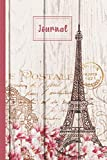 """Paris Eiffel Tower Journal: Paris Travel Journal Blank To Write In - Paris Journal Notebook For Girls - Travel Gifts For Women: Eiffel Tower Themed ... 120 Pages 6"""" x 9"""" (Journals & Notebooks)"""