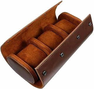 LXSNH 1pc 3 emplacements de Rangement boîte de Rangement Chic Portable Vintage Vintage Boîte de Montre Titulaire de Montre...