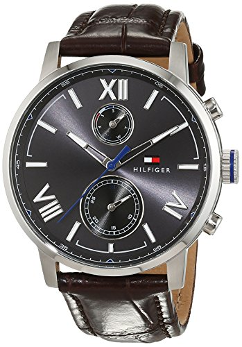Tommy Hilfiger Herren Analog Quarz Uhr mit Leder Armband 1791309