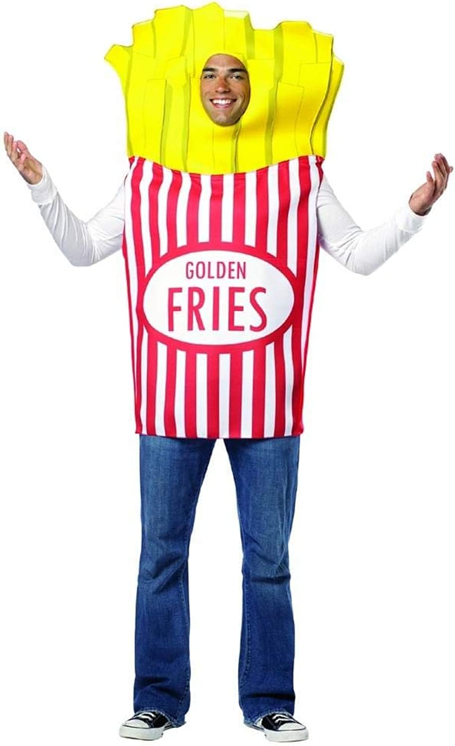 Rasta Imposta 7083 MultiColour Adult French Fries Costume (One Size)