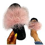 Dasongff - Zapatillas de estar por casa para mujer, de pelo...