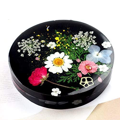 MUY Caja de Almacenamiento de Flores secas de Cristal de Bricolaje con Tapa Molde decoración Manualidades Pascua para Mujeres Caja de Recuerdo