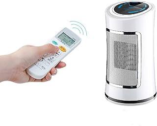 GXDHOME Mini Control Remoto Calentadores de Ventiladores Eléctricos, Calentamiento Rápido de 3 Segundos Hogar Portátil Compacto LED Pantalla Digital Radiador de Cerámica Térmico (500W)