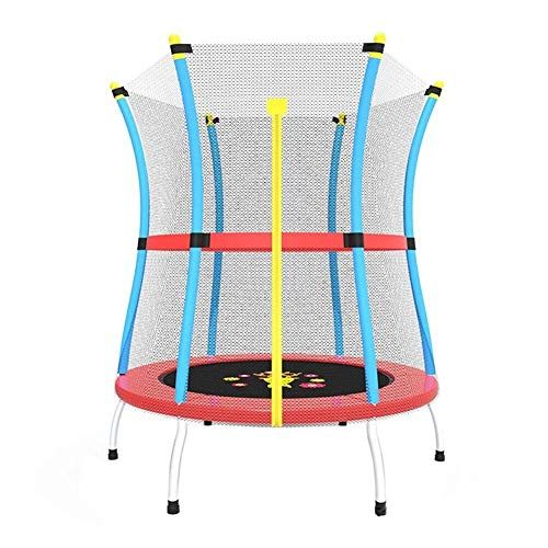 ZHAOJBC Fitness Room Trampoline Mini Bouncer met Behuizing Net Oslash; 140cm - Toegevoegde Veiligheidsfuncties - Max Load 200KG