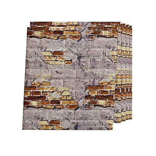 Papel Pintado 3D Ladrillo estanco Ladrillos PVC Papel Pintado Autoadhesivo Wall Paneles Ideal para dormitorios y salones-Zw3-12 20pcs