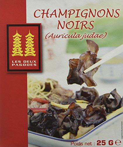 LES DEUX PAGODES Champignons Noirs Déshydrates 25 g