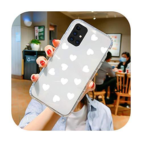 Schutzhülle für Samsung Galaxy A10 A20 A30 S A50 A40 A70 A71 A51 A11 A21S A31 A41 M31S S20 S10 S9 Plus Love Flower Clear Coque-TPU Love 7-S10e 5,8 Zoll