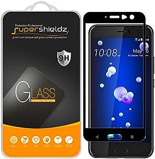 Supershieldz (2 حزمة) ل HTC U11 واقي شاشة من الزجاج المقسى، (تغطية الشاشة الكاملة) مضاد للخدش، خالٍ من الفقاعات (أسود)