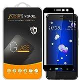 (2 Pack) Supershieldz Designed for HTC U11 Tempered Glass Screen Protector, (Full Screen Coverage) Anti Scratch, Bubble Free (Black)