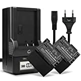 CELLONIC® 2X Batería de Repuesto BP-807,-808,-809,-819,-827 per Canon LEGRIA HF G10 G25 HF20 HF21 HF200 HG20 HG21 HF M31, 1780mAh + Cargador, Accu Sustitución Camara, Battery