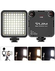 VIJIM VL81 Videobelysning på kamera mini LED mjukare ljus med 3 kall skofärg temperaturbelysning för DJI OSMO Mobile 3 fickor Zhiyun Smooth 4 kompatibel med Sony ZV1 kamera 3 000 mAh batteri