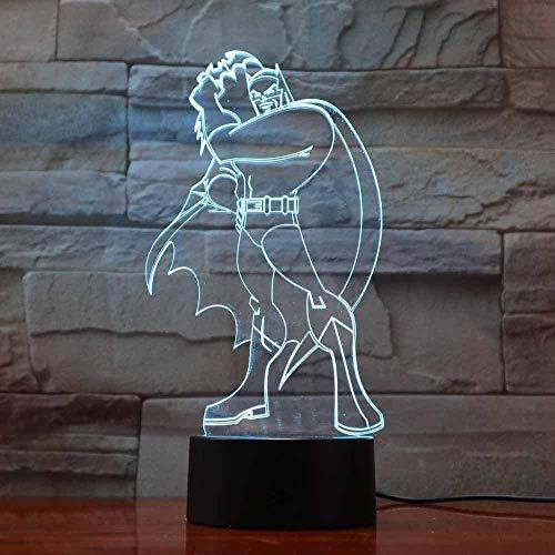 3D-nachtlampje bedlampje fantoomlamp creatieve kerstcadeau-sfeer licht, brengt een warme sfeer op tafel en helden.