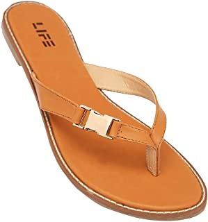 Life Womens Casual Wear Slip On Flats_Brown