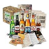 BOXILAND - Bier-Geschenk-Set mit verschiedenen Bier-Sorten (6x0,33l) zum Vatertag - als Geschenkidee...