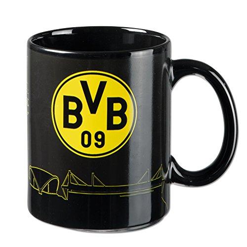 Borussia Dortmund BVB Zaubertasse Skyline, Keramik, Schwarz/gelb, 10 x 10 x 15 cm, 1 Einheiten