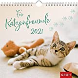 Für Katzenfreunde 2021: Wandkalender mit Monatskalendarium