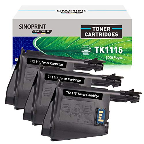 SINOPRINT Compatible Kyocera TK1115 for TK-1115 1T02M50NLV Toner Cartridge for Kyocera FS1041 FS1220MFP FS1320MFP FS-1041 FS-1220MFP FS-1320MFP FS-1220-MFP FS-1320-MFP Printer (3-Pack, Black)
