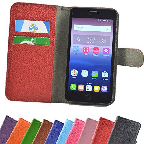 ikracase Hülle für Alcatel One Touch Pop Star 5070D Handy Tasche Case Schutzhülle in Rot