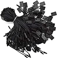 """Hang Tag String Black 7"""" 1000Pcs Nylon Snap Lock Pin Loop Fastener Hook Ties Easy and Fast to Attach by Renashed"""