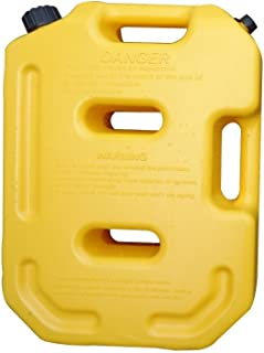 SXMA 10L Fuel Tank Cans Spare 2.6 Gallon Portable Fuel Oil Petrol Diesel Storage Gas Tank Emergency Backup (Pack of 1) Yellow