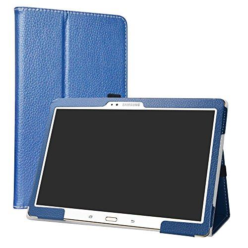Samsung Galaxy Tab S 10.5 Custodia,LiuShan slim Sottile Pieghevole con supporto in Piedi caso per Samsung Galaxy Tab S 10.5 pollice T800 T805 Android Tablet,Blu