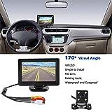 ROSEBEAR Vehicle Backup Cameras System and 4.3 LCD Monitor Wired Car Rear View Kit + HD IR Night Vision Reversing Camera For Cars,SUVs,Vans,Pickups,Trucks,Rear/Front View Camera Adjustable